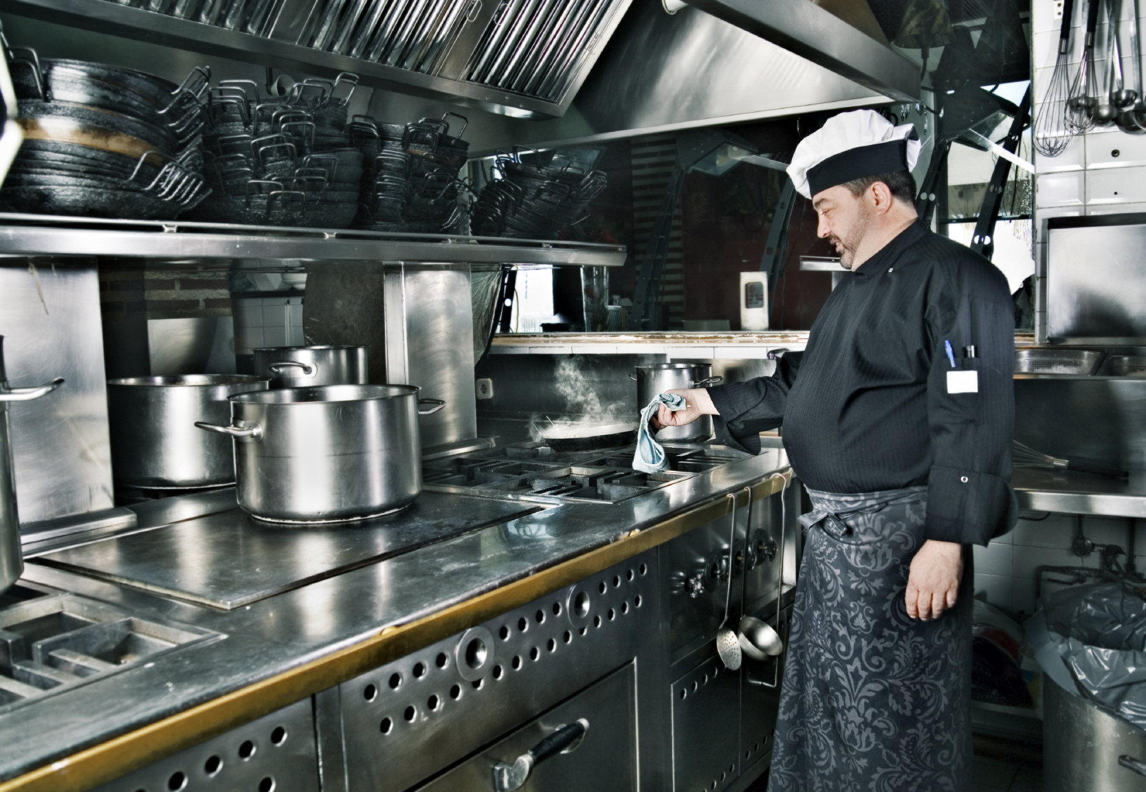 used commercial kitchen appliances. photo. kitchen equipments
